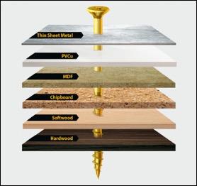 TIMco Velocity Advanced, Professional, Wood Screws